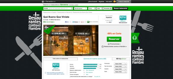 Restaurante Qué Bueno Que Viniste en Barcelona - -50% - 2013-10-24_17.49.45
